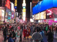 深夜のタイムズスクエアで撮った卒業写真♡