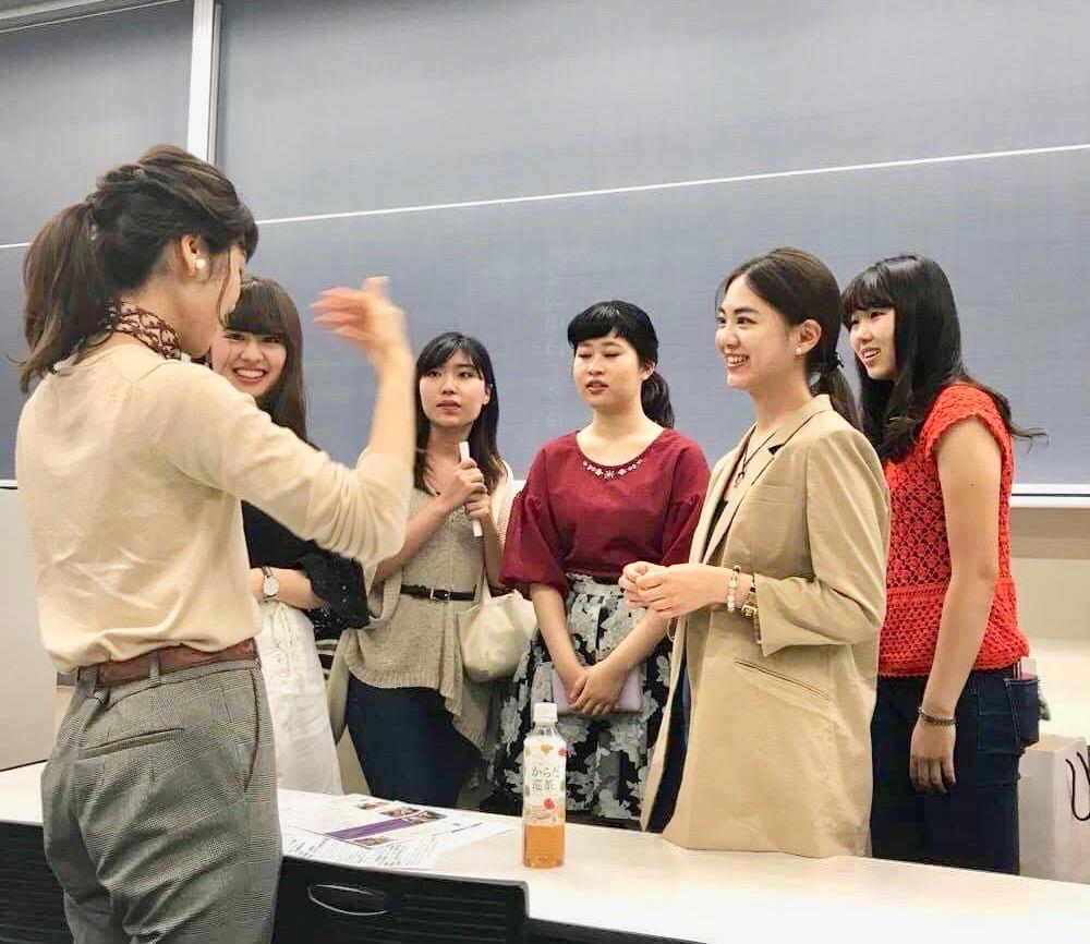 青山学院大学で行われたグローバルセミナーにて